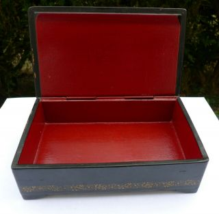 Vintage Soviet Russian lacquered Palekh hand painted box Red Army warriors WWII 4