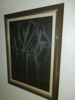 Jim Dines Rare Robe On Black Paper 1977 Numbered And Signed Lithographed