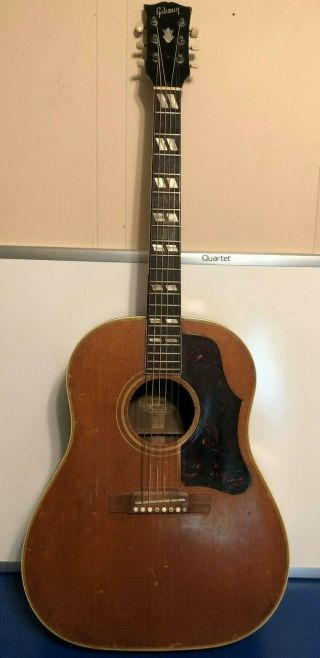 Vintage 1960 Gibson Country Western Acoustic Dreadnought Guitar No Case