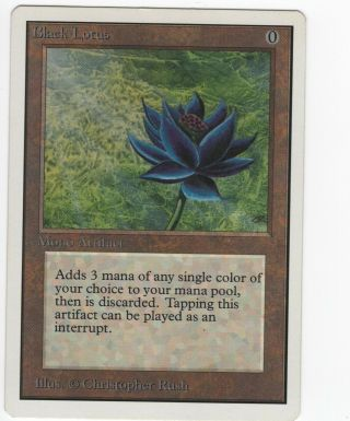 Black Lotus - Unlimited Light Play On The Back