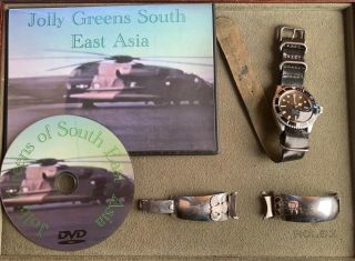 Rare Vintage Rolex Gilt Tudor 7016 Circa Late 1960s With Vietnam War Provenance