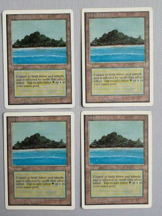 Vintage Magic | 4x Mtg Unlimited Tropical Island,