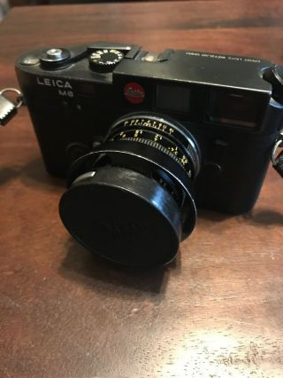 Rare Early First Batch Leica M6 Rangefinder Camera With Summicron 1:2/50 Lens