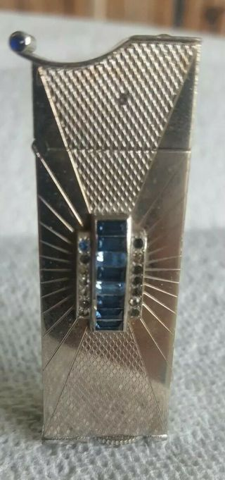 Rare & Cool Vintage Evans Esquire Automatic Cigarette Lighter With Jewels