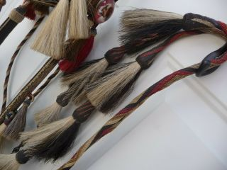 Very Rare Deerlodge Prison Montana Hitched Horse Hair Bridle C - 1880 - 1920 2