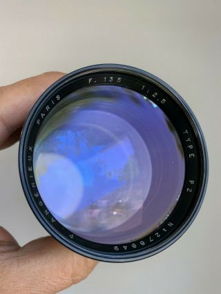 Angenieux 135mm f2.  5 Type P2 Vintage France Exakta Exacta Exa Mount Lens 10