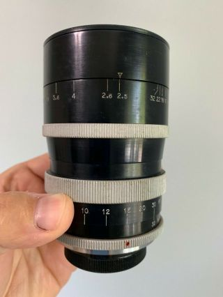 Angenieux 135mm F2.  5 Type P2 Vintage France Exakta Exacta Exa Mount Lens