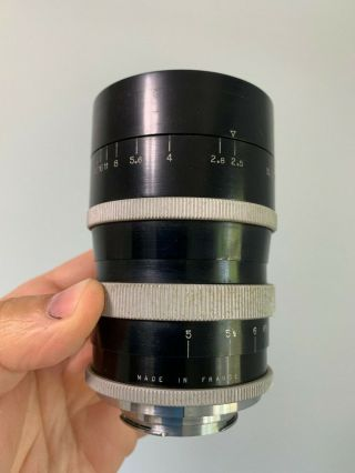 Angenieux 135mm f2.  5 Type P2 Vintage France Exakta Exacta Exa Mount Lens 4