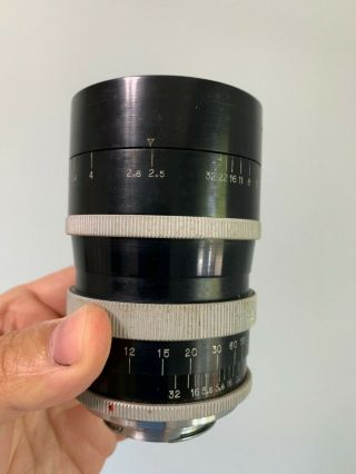 Angenieux 135mm f2.  5 Type P2 Vintage France Exakta Exacta Exa Mount Lens 5