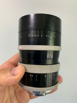 Angenieux 135mm f2.  5 Type P2 Vintage France Exakta Exacta Exa Mount Lens 6
