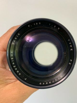Angenieux 135mm f2.  5 Type P2 Vintage France Exakta Exacta Exa Mount Lens 7