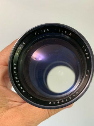 Angenieux 135mm f2.  5 Type P2 Vintage France Exakta Exacta Exa Mount Lens 8