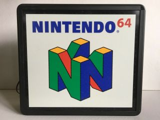 Nintendo 64 Fiber Optic Sign 1999 Rare Excelent
