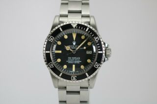 Rolex Sea - Dweller Rail Dial Vintage Automatic Dive Watch Circa 1970s Ref 1655