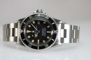 Rolex Sea - Dweller Rail Dial Vintage Automatic Dive Watch Circa 1970s Ref 1655 6