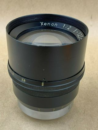 Xenon 12.  5cm F/2 Lens M39 Leica Screw Mount Lens - Rare 125mm 1:2 Ltm