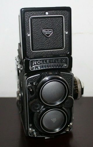 Rare Near Rolleiflex 2.  8f 12/24 Camera With Planar 80mm Lens