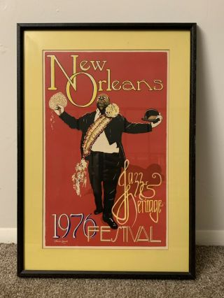 Rare 1976 Orleans Jazz & Heritage Festival Poster By Maria Loredo