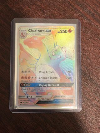 Charizard Gx Burning Shadows Rainbow Hyper Secret Rare Full Art 150/147