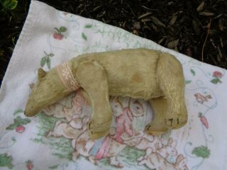 RARE c.  1909 Antique Steiff Polar Bear Mishka 5