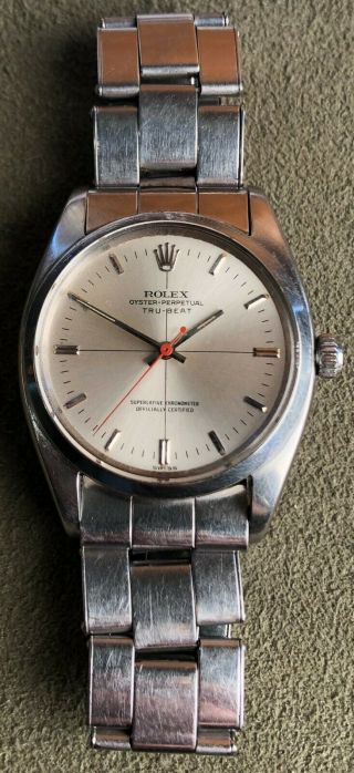 Rare Vintage Rolex TRUBEAT 6556 with DEAD SECONDS Movement Intact circa 1956 2