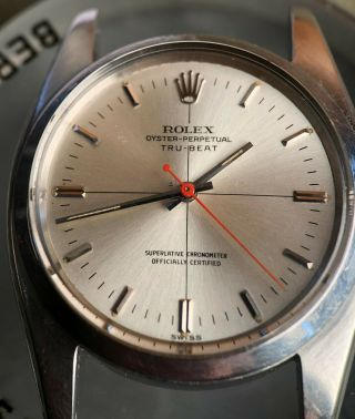 Rare Vintage Rolex TRUBEAT 6556 with DEAD SECONDS Movement Intact circa 1956 3