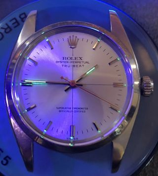 Rare Vintage Rolex TRUBEAT 6556 with DEAD SECONDS Movement Intact circa 1956 4