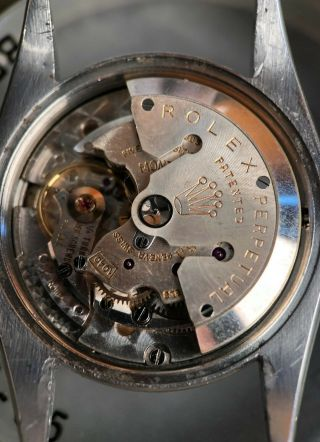 Rare Vintage Rolex TRUBEAT 6556 with DEAD SECONDS Movement Intact circa 1956 9