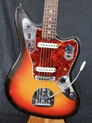Vintage 1965 Fender Jaguar Electric Guitar,  All,  Hard Case