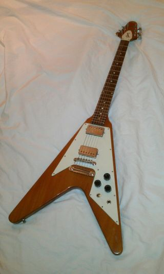 Vintage 1975 Gibson Flying V Natural