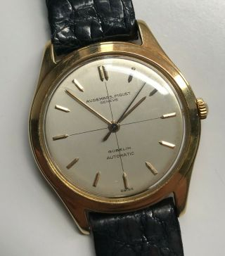 "Vintage Audemars Piguet 18k Yg "" Gubelin Cross Hair Dial """