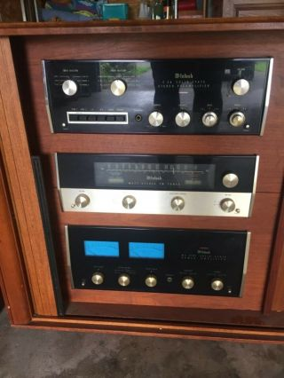 Vintage McIntosh MR71 Receiver C26 Pre Amp MC2105 Amp Large JBL Speakers Teac 5