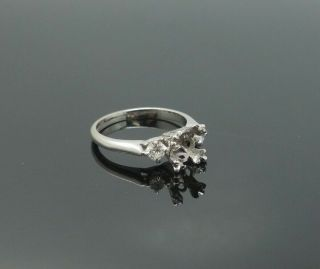 Vintage 1950s/60s Platinum Solitaire Diamond Ring Setting For Restoration