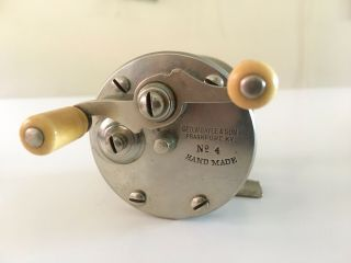 Vintage G.  W.  Gayle & Son No.  4 Frankfort Ky Fishing Reel