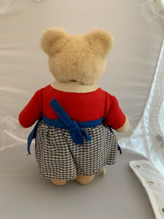 Rare 1950 ' s Vintage_hi antique Steiff Germany dressed TEDDYLI Girl Teddy Bear 2