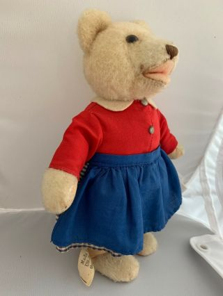 Rare 1950 ' s Vintage_hi antique Steiff Germany dressed TEDDYLI Girl Teddy Bear 4