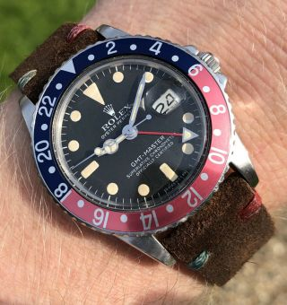 Vintage Rolex 1675 Gmt Master Pink Lady From 1978