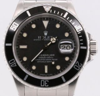 Rolex Submariner Date 16800 Vintage 1986 100 Authentic,  2 Year,  Papers