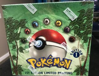 Pokémon 1st Edition Jungle Booster Box - English - Wotc Factory - Rare