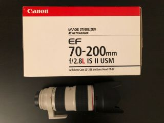 Canon Ef 70 - 200mm F/2.  8 L Is Ii Usm Lens.  1 Owner.  Excellent/rarely