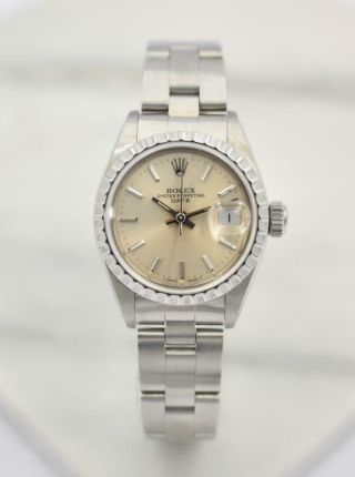 Rare Ladies Steel Rolex Automatic Date Model Wristwatch Ref 69240 Serial E Circa