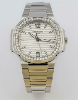 Rare Ladies Steel Diamond Patek Philippe Nautilus Wristwatch Ref 7018/1A - 001 6