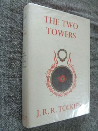 V Rare 1954 1st Edition - The Two Towers - Tolkien - 1st Print Lord Rings Hobbit