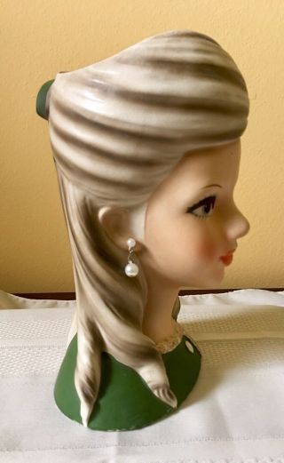 "8 3/4"" Enesco Rare ""High Teen"" Head Vase In 2"