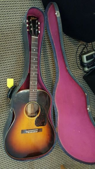 Vintage 1946 Gibson Lg2 Acoustic Electric Guitar With Geib Case