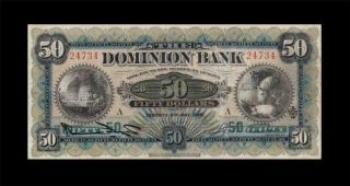 2.  1.  1925 Dominion Bank Of Canada $50 Xx - Rare ( (vf))