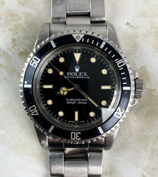 Vintage Rolex Submariner Dive Wristwatch Ref.  5513 Gloss Dial 1980s Nr