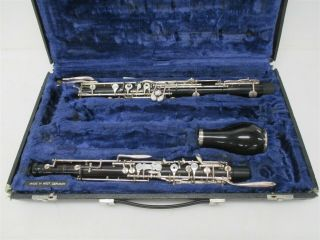 A.  Barre Paris Vintage English Horn Cor Anglais Sn 1064 W/ Case & 2 Staples