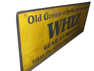 RARE HUGE 8ft 1930s WHIZ Automobile Gear Lubricant Grease Sign 3 ' x 8 ' 3