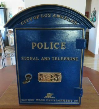 Rare Cannon Los Angeles Police Department Call Signal Box For Gamewell